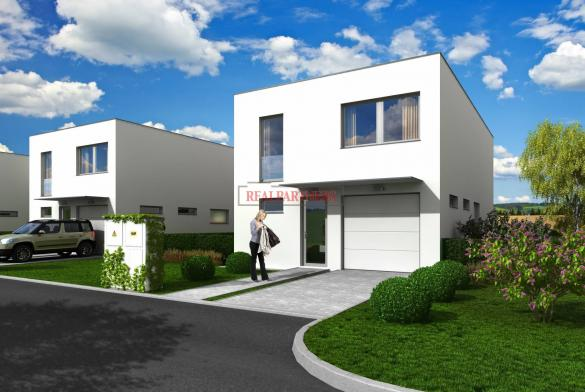 Moderní řadový, cihlový dům 5+kk o ploše 166,5 m² + terasa 17,5 m² na pozemku 568  m².