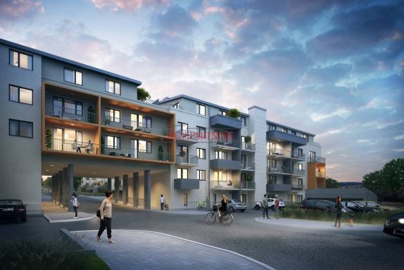 Nový byt 1+kk o ploše 42,8 m² + 4,1 m² balkon - ve výstavbě.