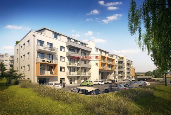 Nový byt 1+kk o ploše 34,2 m² + 6,3 m² balkon ve výstavbě.