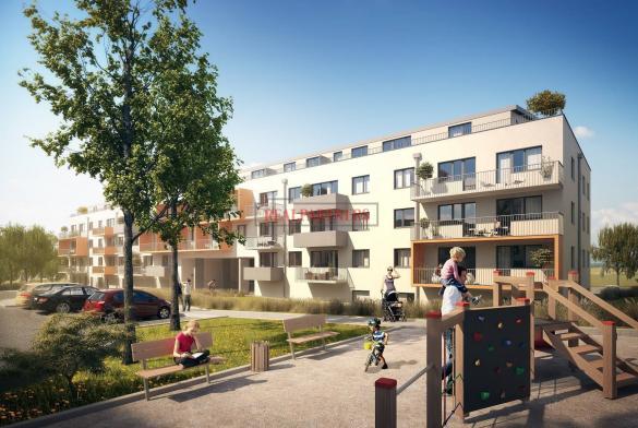 Nový byt 1+kk o ploše 38,7 m² + 7,6 m² balkon - ve výstavbě.