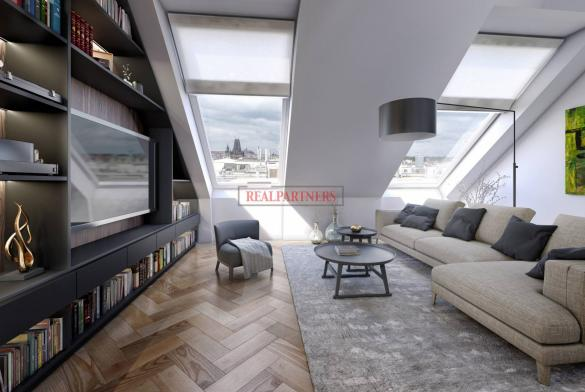Mezonetový byt 3+kk o ploše 109,2 m² na Praze 1 - Nové město.