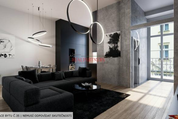 Zrekonstruovaný byt 3+kk o ploše 90,7 m² na Praze 1 - Nové město.