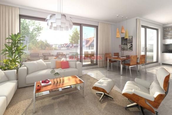 Nový byt 4+kk s dvěma koupelnami o ploše 106 m² + balkon 16,8 m² na Praze 6 - Liboc.
