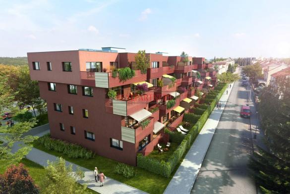 Nový byt 3+kk o ploše 75,6 m² + terasa-balkon 10,6 m² na Praze 6, naproti Divoké Šárce.