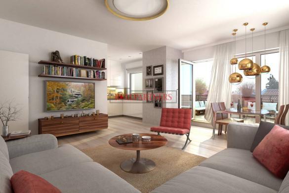 Nový byt 3+kk o ploše 94,3 m² + terasa-balkon 17,1 m² na Praze 6, naproti Divoké Šárce.