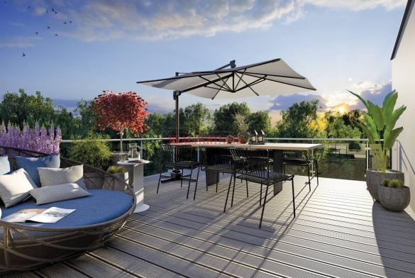 Nový byt 3+kk o ploše 89,1 m² + 11,4 m² balkón ve výstavbě.