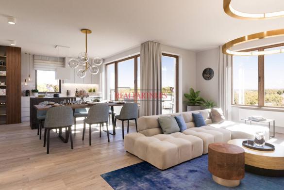 Nový byt 3+kk o ploše 83,6 m² + 10,8 m² balkón ve výstavbě.