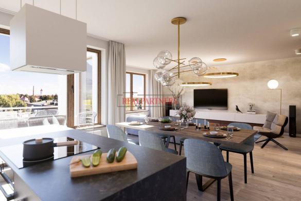 Nový byt 3+kk o ploše 93 m² + 13,2 m² balkón ve výstavbě.