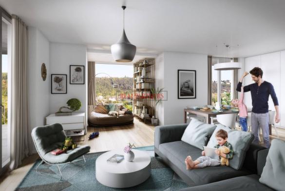 Nový byt 4+kk o ploše 113,7m + 10,9 m² balkon v nadčasové novostavbě u Vltavy.