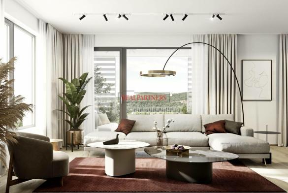 Nový byt 3+kk o ploše 87,8m + 19,4 m² balkon v nadčasové novostavbě u Vltavy.