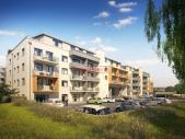 Nový byt 1+kk o ploše 28,2 m² + 5,6 m² balkon ve výstavbě.