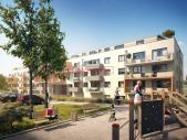 Nový byt 2+kk o ploše 59,6 m² + 14,8 m² terasa + 4,4 m² balkon ve výstavbě.