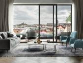 Zrekonstruovaný byt 4+kk o ploše 158,2 m² + 5,3 m² balkon na Praze 1 - Nové město.