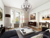 Zrekonstruovaný byt 3+kk o ploše 109,5 m² + 4,65 m² balkon na Praze 2 - Vinohradech.