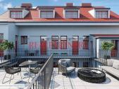 Zrekonstruovaný střešní ateliér 2+kk o ploše 33 m² v atraktivní lokalitě Karlína.