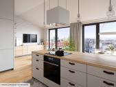 Zrekonstruovaný byt 2+kk o ploše 60,2 m² + 11,2 m² terasa na Praze 3 - Vinohrady.