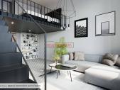 Zrekonstruovaný byt 3+kk o ploše 87,6 m² + 17,4 m² terasa + 2,4 m² balkon vč. 2x mezipatro 15,8 m².