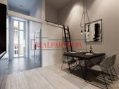 Zrekonstruovaný byt 1+kk o ploše 27,3 m² vč. mezipatra 8,8 m² na Praze 1 - Nové město.
